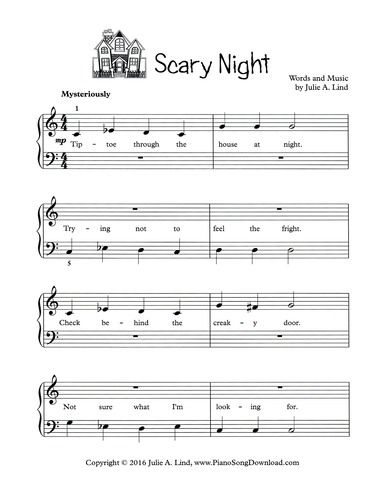 This is halloween easy piano pdf