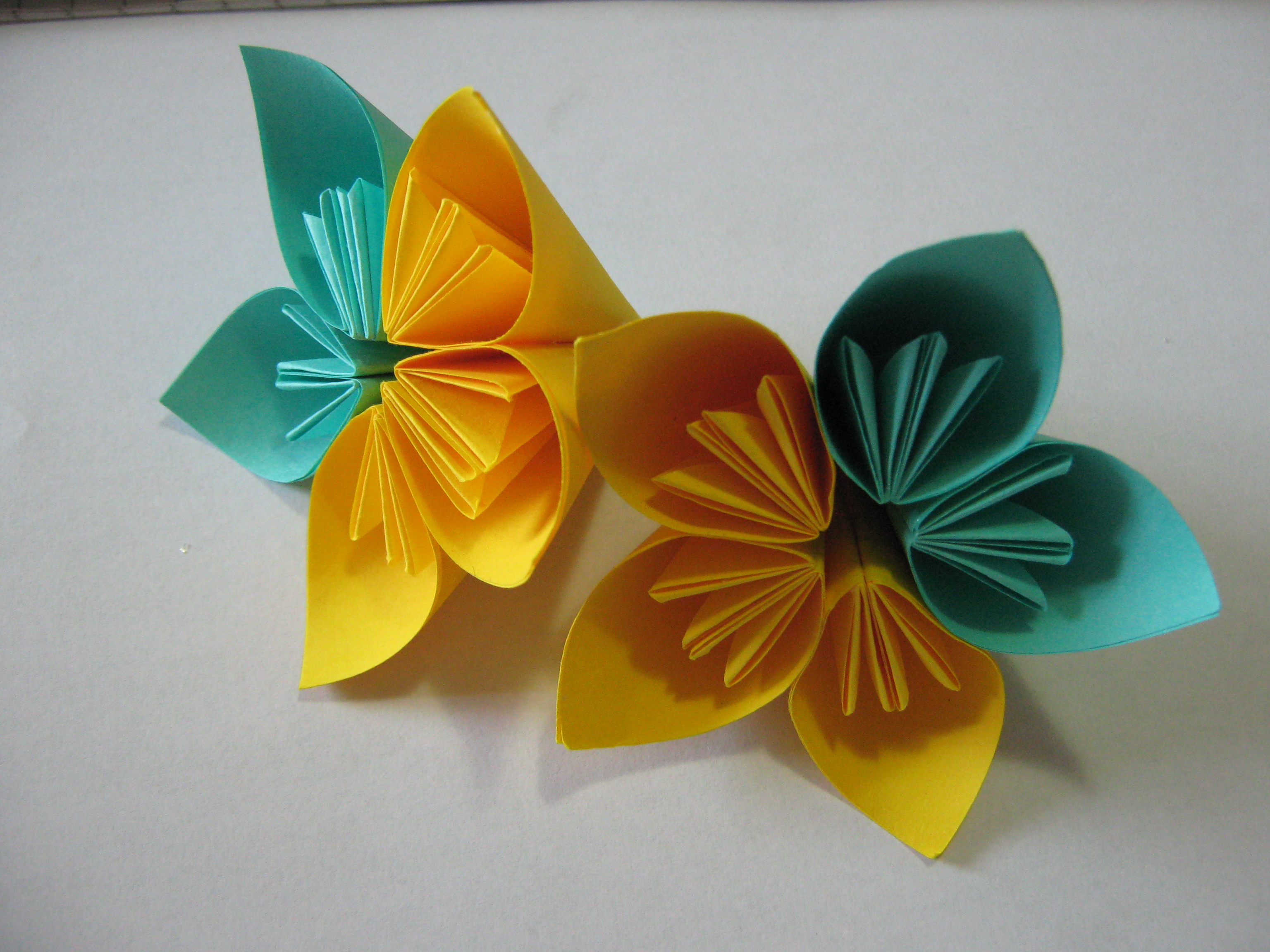 origami simple flower instructions
