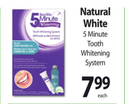 natural white 5 minute whitening instructions