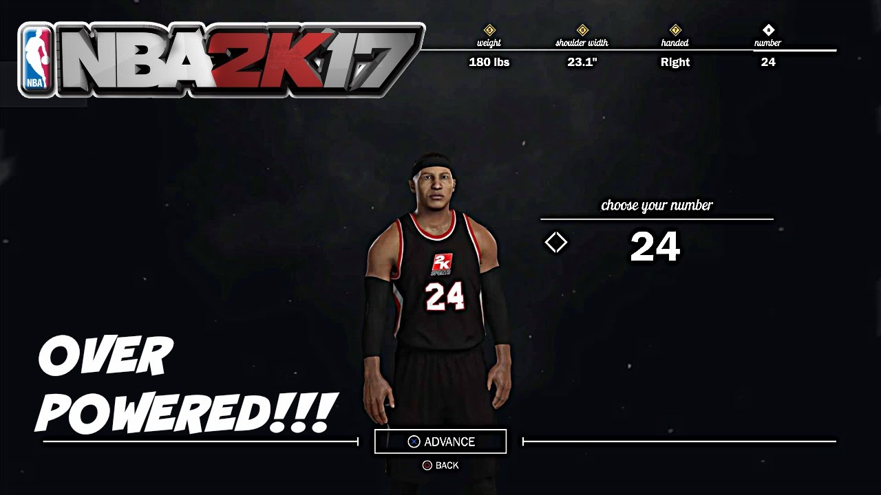 2k17 how to change apperance