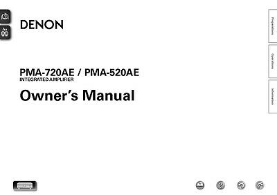 denon pma 520ae service manual