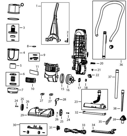 bissell powerforce bagless upright vacuum 6583 manual