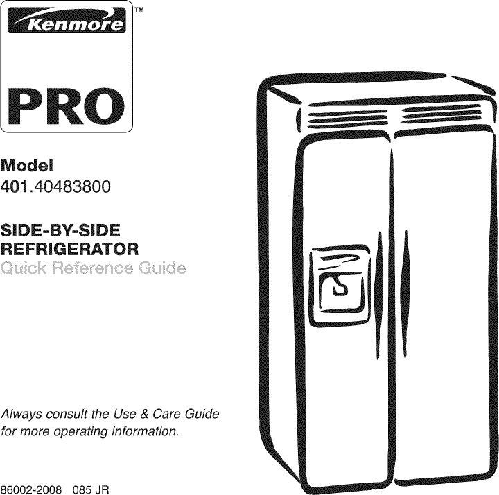 manual for kenmore refrigerator modle 596.79246016