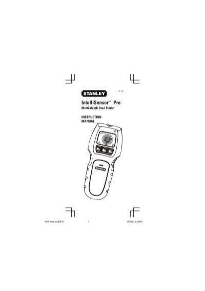Stanley intellisensor pro 77 220 manual
