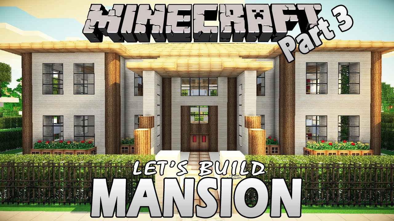 Minecraft tutorial how to build a mansion
