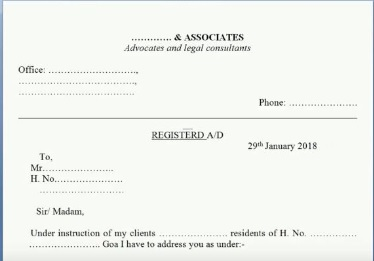 Legal notice for recovery of money pdf