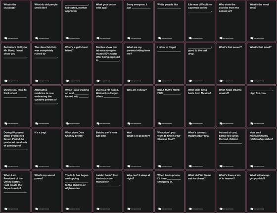 Card game against humanity pdf
